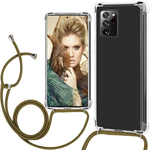 Handykette Hülle kompatibel mit Samsung Note 20 5G Hülle Necklace Silikon Transparent Handyhülle Handy-Kette Schutzhülle mit Band,Handykordel mit Handyanhänger Case Cover für Samsung Galaxy Note 20 5G