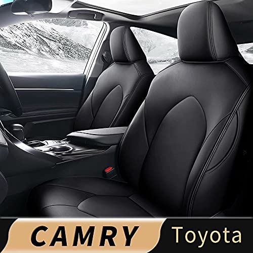 IKABEVEM Custom for Toyota Camry XLE XSE 2018 2019 2020 2021 Car Seat Cover, Luxurious Full Set of Car Seat Covers with Airbag Compatible.Automotive Interior Accessories, Easy to Install
