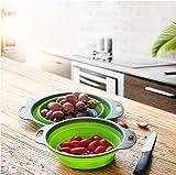 2er-Pack Küchen-Korb, faltbar, aus Silikon, für Küche, Gemüse, faltbar, zum Abtropfen von...