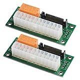 MZHOU Dual Multi Power Supply Adattatore Add2psu per la Scheda Adattatore Alimentata Bitcoin Mining - ATX 24-pin a Molex 4-PIN (2 Pezzi)