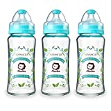 Product Image of the Simba Crystal Romance Wide Neck Borosilicate Glass Feeding Bottle - 9 oz (Sky...