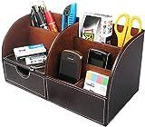 Itian 7 Vani portaoggetti Multifunzione PU Ufficio in Pelle da scrivania, Desktop Cancelle...