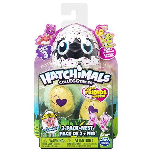 Hatchimals - Collezionabili Stagione 3 Confezione da 2 Uova + Nido, 6041332