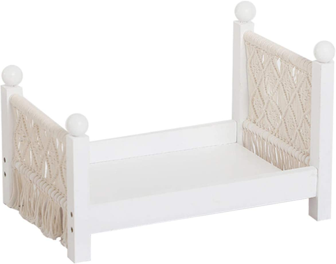 Baby Photography Bed Photo Props Doll Ranking TOP17 White Wood Be Max 42% OFF Woven