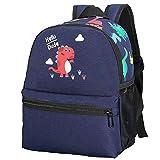 Kids Toddler Backpack Boys with Strap Dinosaur Blue Kindergarten Leash Bookbag (Dark Blue-12)