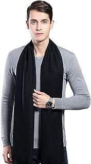 Mens Winter Cashmere Scarf Long Plain Warm Soft Scarves for Men (10 Colors)