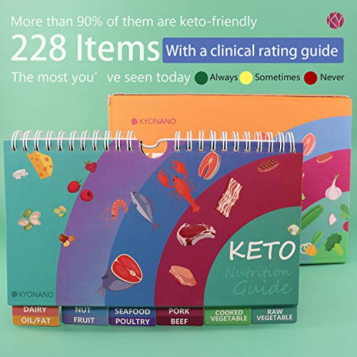 Keto Cheat Sheet Magnets 15 Pack in 1, Keto Diet for Beginners, Quick Guide Keto Products for 228 Keto Food and Snacks, Accessory for Keto Cookbook, Incl. Blank Chart, Keto Recipe for 488 Food