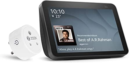 All New Echo Show 8-2nd Gen (Black) combo with Zoook 16A Smart Plug