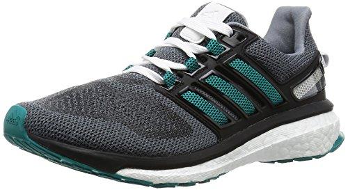 adidas Energy Boost 3 W, Zapatillas de Deporte Mujer, Gris/Verde/Negro (Gris/Eqtver/Negbas), 36 2/3