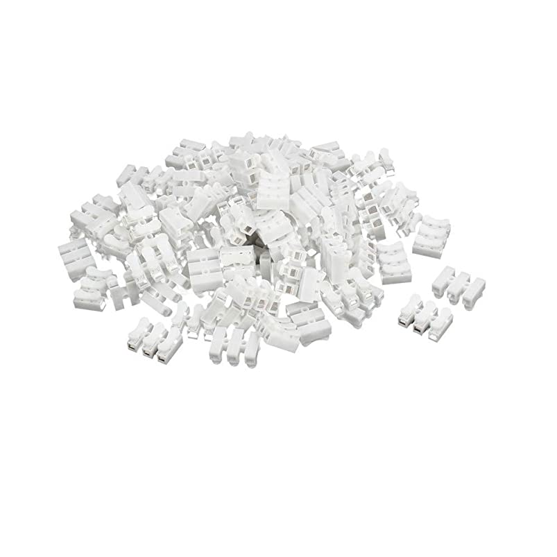 ONNPNN 100 Pieces Self Locking Electrical Cable Connector Quick Splice Lock Wire Terminal for DIY uangowjn176357