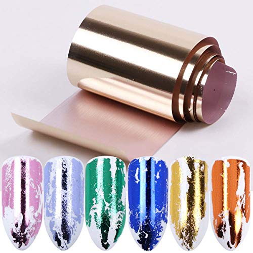 Nagelfolie Sticker Nagel Art Stickers Rollen Set 14 Kleuren Metalen Effect Transfer Folie voor Nagels Art Metalen Effect Nagelfolie Sticker Decal Manicure Tool voor Manicure Salon of Thuisgebruik