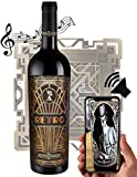 RETRO - Der sprechende Wein | Virtueller Rotwein 100% Cabernet Sauvignon aus Frankreich Bordeaux Weingeschenk Eichenholzfass zu Geburtstag oder Weihnachten