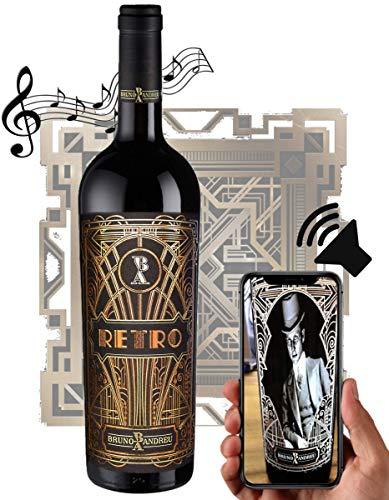 RETRO - Der sprechende Wein | Virtueller Rotwein 100{826cf0469521b0d74430d13cb539bf939f86661a5492a40f418f863657644088} Cabernet Sauvignon aus Frankreich Bordeaux Weingeschenk Eichenholzfass zu Geburtstag oder Weihnachten