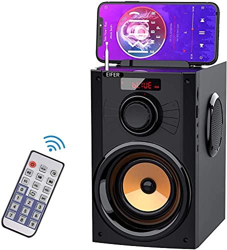 EIFER Wireless Bluetooth Speaker 10W Portable Bluetooth Speakers 3' Tweeter HiFi Sound TWS Pairings Outdoor Party Audio System Remote Control FM Radio TF Card/U-Disk Player Phone Stand Updated (B12)