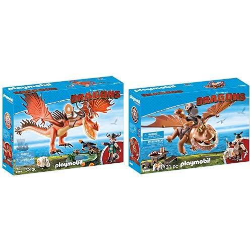 PLAYMOBIL 9459 Spielzeug - Rotzbakke und Hakenzahn Unisex-Kinder &  9460 Spielzeug - Fischbein und Fleischklops Unisex-Kinder