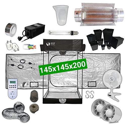 Kit Coltivazione Indoor 600W HPS Cooltube Protube - Grow Box 145x145x200 - Alimentatore ETI 2