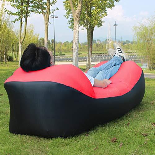luyiyi Colchón de Aire portátil del sofá del sofá de la Cama Inflable al Aire Libre del sofá de Lazy Couch (Color : Orange)