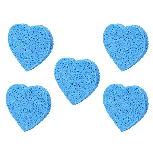 Perfeclan 5pcs Pads Démaquillant Visage Eponge Nettoyage du Visage Eponge Maquillage Pads Super Doux, Lavable, Réutilisable, Pour Femme Homme