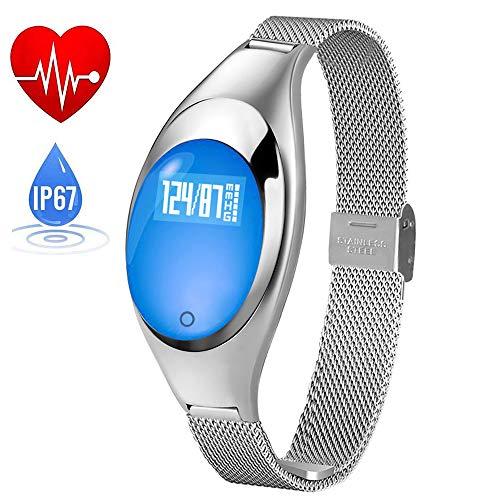 Hoeveelheid 88 armband Smart, dames high-end metalen sieraden, IP67-waterdicht, stappenteller, gezondheidsmeter controleer de bloeddruk.