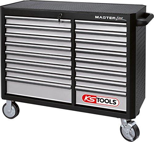 KS Tools 878.0016 MASTERline Werkstattwagen XXL, mit 16 Schubladen schwarz/silber