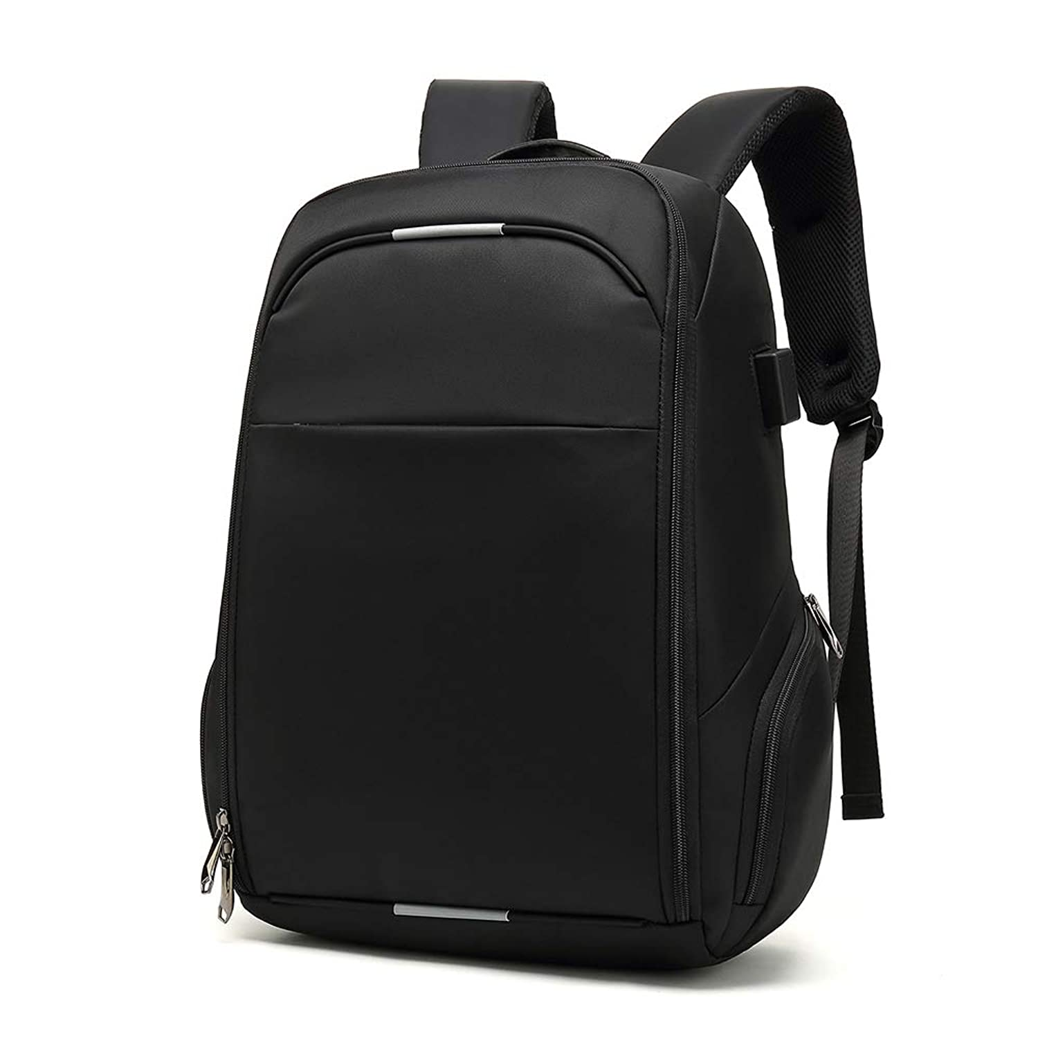 Business Travel Laptop Backpack for Women & Men, College School Computer Bag, Multi-Function Waterproof and Anti Theft, Large Capacity, Durable, USB Charging Port Fits 15.6 Inch Laptop (Gloss Black)