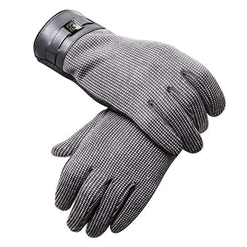 Geschicklichkeit Motorrad-Fahr Warm Anti-Rutsch-Touch-Screen-graue Handschuhe, Schutz (Color : C)