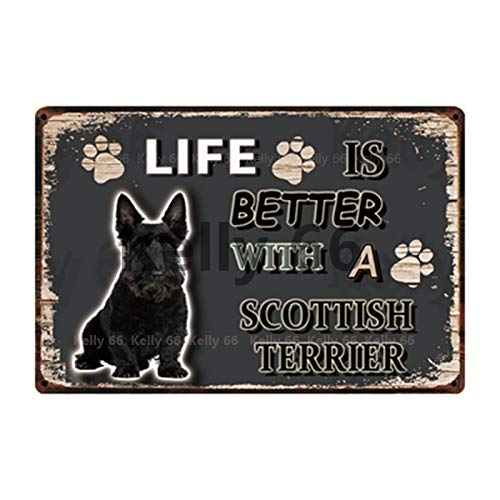 ivAZW Tin Metal Sign Pet Home Decor Bar Wall Art Painting 20x30cm y-3709