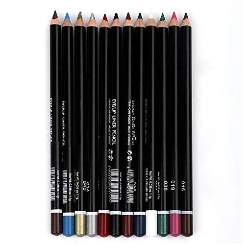 12pcs crayon eyeliner crayon eye-liner étanche maquillage outil de beauté cosmétiques pour les femmes(12pcs couleurs)