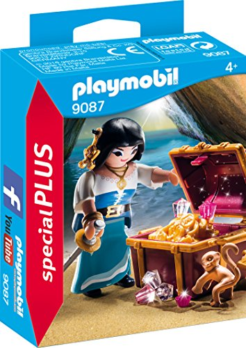 Playmobil 9087 - Piratin mit Schatztruhe