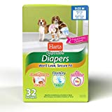 Disposable Dog Diapers with FlashDry Gel Technology - M, 32 Count