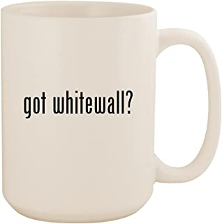 got whitewall? - White 15oz Ceramic Coffee Mug Cup
