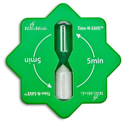PF WaterWorks PF0551 Time-N Five (5) Minute Hour Glass Timer, Suction...
