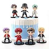 YUY 7PCS BTS Cake Topper Fingure Personajes Juego De Figuras De Acción Juguetes Toppers De Pastel Y Favores De Fiesta para BTS Proveedor