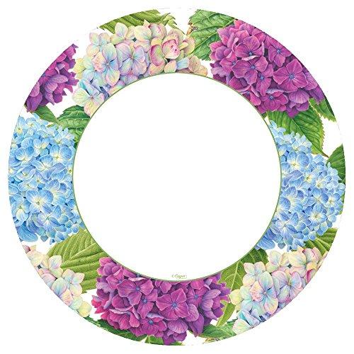 Caspari 14410DP Hydrangea Garden Paper Dinner Plates in Blue-Pack of 8, Multicolor