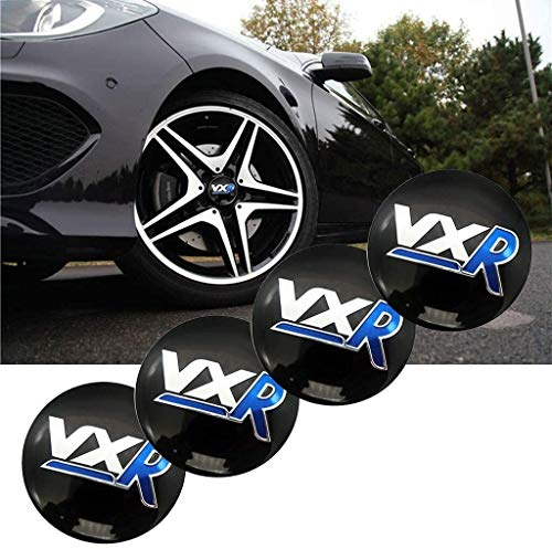 YXZLY 135 4Pcs 56mm VXR Auto-Rad-Mitte-Naben-Kappen-Mitte-Abdeckungs-Emblem-Abzeichen-Aufkleber, Fit for Opel Corsa...