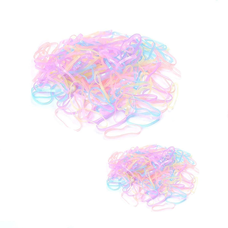 シャーク改修例1st market プレミアム女の子と子供の髪ボブルバンドミニポニーテール使い捨て弾性伸縮性のあるヘアバンド、4000ピースパック