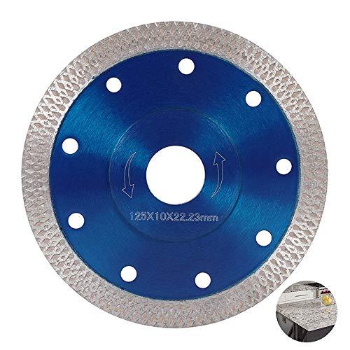 Disco diamante 125 mm/115 mm fino corte seco y húmedo, disco de corte diamantado, hoja de sierra circular profesional para azulejos, granito, cerámica, mármol, azulejos calcáreos