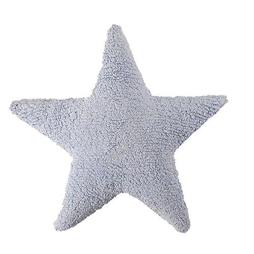 Cojín de estrella azul