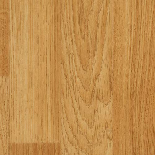 BODENMEISTER BM70517 Vinylboden PVC Bodenbelag Meterware 200, 300, 400 cm breit, Holzoptik Schiffsboden Eiche hell natur
