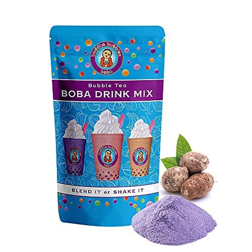 Taro Boba / Bubble Tea Drink Mix Powder By Buddha Bubbles Boba 10 Ounces (283 Grams)