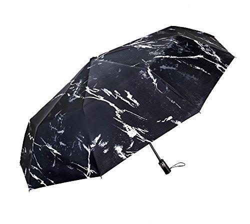 Ligero Paraguas de Viaje Compacto Plegable Paraguas Tres Hombres y Mujeres Paraguas...