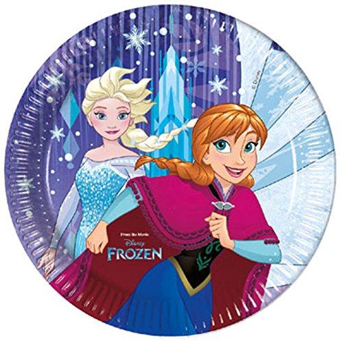 Procos 87893 Partygeschirr Frozen Snowflakes, Teller, One Size