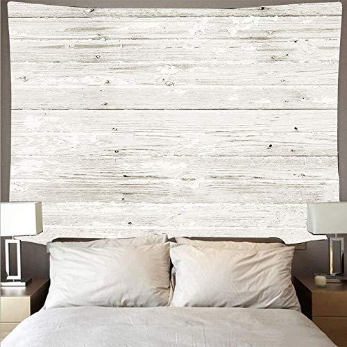 Tela de pared de tablón de madera blanca horizontal tapiz de arte retro hippie tapiz tapiz psicodélico tela colgante A2 150x200cm