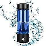 InLoveArts Bouteille d'eau Riche en Hydrogène 380ML Machine Alcaline D'ioniseur d'eau Portable 3-mins Rechargable l'eau Ionisée Générateur d'hydrogène Anti-âge antioxydant Machine