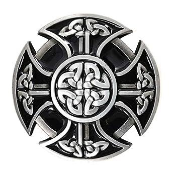 LAXPICOL Vintage Western Black Celtic Belt Buckle for Men Keltic Knot Western Cowboy Native American Belt Buckles
