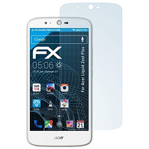 atFolix Schutzfolie kompatibel mit Acer Liquid Zest Plus Folie, ultraklare FX Bildschirmschutzfolie (3X)