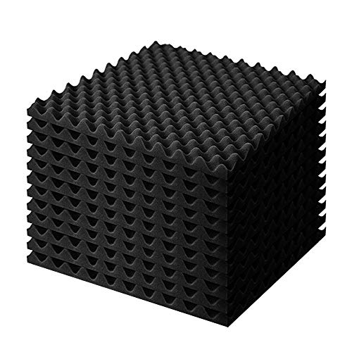 Quiet-Mo吸音材 防音シート 壁 防音材 壁 密度22kg/m³ 厚み4cm 波型50x50cm 吸音シート 緩衝材 ウレタンフォーム スポンジ 高密度 音楽計画 スピーカー背面制振緩衝材 クッション材 スタジオ 録音室 工事現場 防音対策