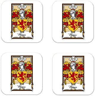 Wemyss Family Crest Square Coasters Coat of Arms Coasters - Set of 4