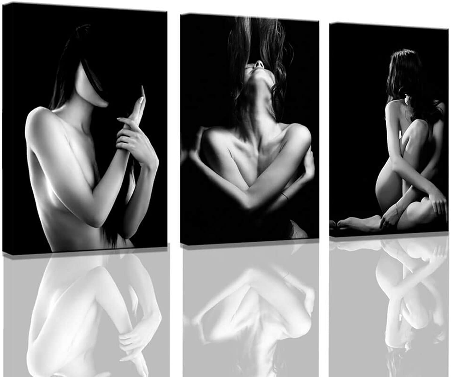 Bedroom Wall Decor Black and White Wall Decor Sexy Posters of Women Eredic Photos Canvas Prints Nude Framed Wall Art Naked Pictures for Bedroom Wall Decor Modern Artwork for Walls Ready to Hang