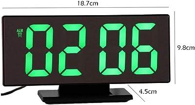PKLFQQA Reloj Despertador Dibujos Animados Exquisito Dibujos Animados Lindo Despertador de cabecera Digital Exquisito Dibujos Animados Lindo Despertador de cabecera Lindo Reloj led Espejo multifu: Amazon.es: Hogar